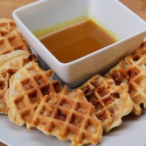 Chicken flavored waffles are to die for. Unbelievably good!