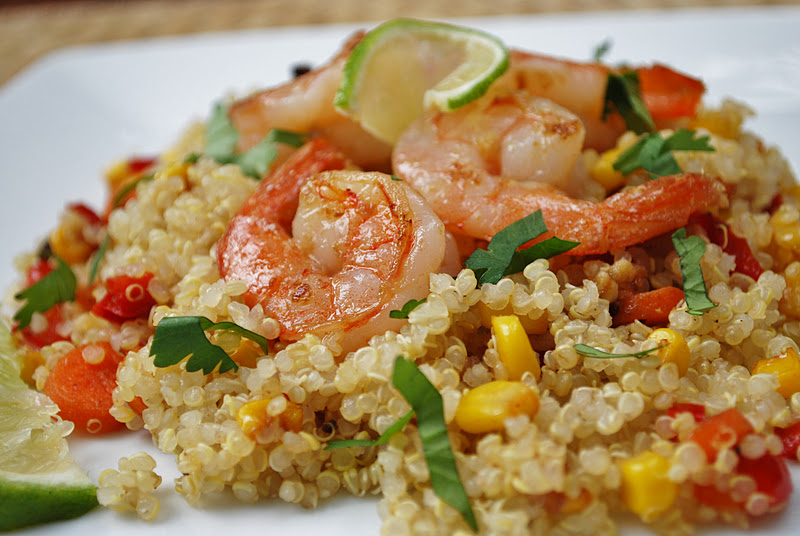 Shrimp Quinoa Stir-Fry